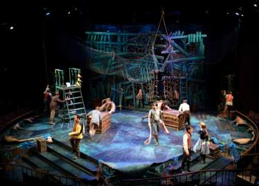 """Peter and the Starcatcher"" by Rick Elice, Wayne Barker, Dave Barry, and Ridley Pearson, a Pacific Conservatory Theatre production at the Solvang Theater Festival, in Solvang, Calif., in 2015."